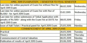 Dote Exam Time Table 2019 TN Diploma 2, 4, 6th Sem Date Sheet